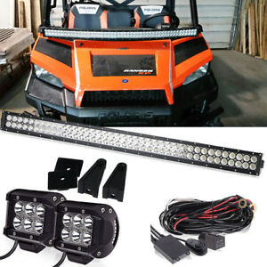 "Curved LED Light Bar Kit 40"" +4"" +WIRE YAMAHA VIKING 700 VIKING VI 700 2014-2016"