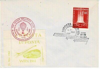 Österreich Sonderbrief Luftposta Wien Mit Vignetten Briefmarken Sonderstempel Balloon Club