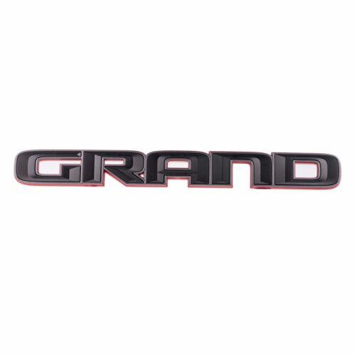 2017-2019 GRAND CHEROKEE BLACK /& RED GRAND EMBLEM ONLY OEM NEW MOPAR