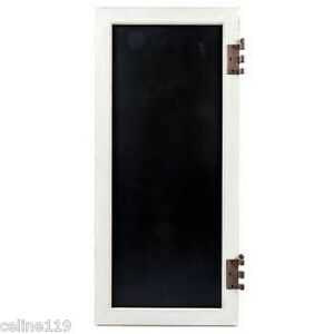 Details About Rustic White Door With Hinges Chalkboard Shabby Chic Home Decor New On Sale