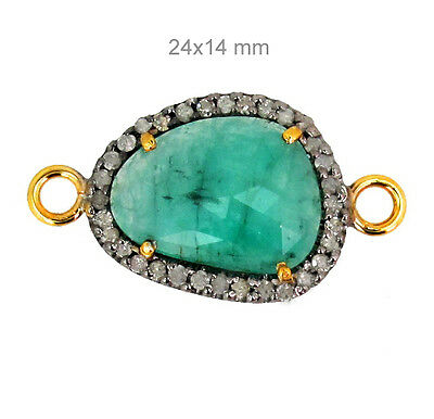 Diamond Gemstone Connector Finding 14k Gold 925 Sterling Silver Jewelry