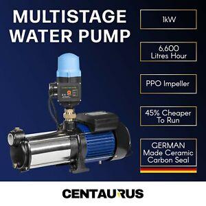 6600LPH Multi Stage Water Pump Pressure Rain Tank Garden Farm House Irrigation