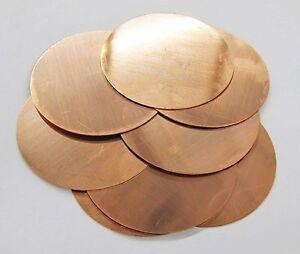 Copper Sheet Metal Copper Round Circle Stamping Blanks