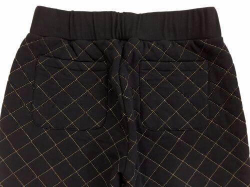 Moschino Jogging Bottoms Metallic Logo Quilted Jogger Black EU50//GB40//34 £295