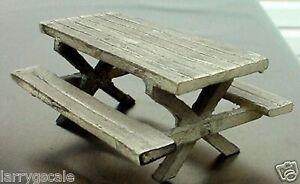 Picnic Table Miniature 1/24 Scale G Scale Diorama Accessory Item