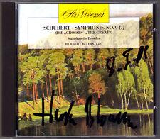 Herbert BLOMSTEDT Signed SCHUBERT Symphony 9 Die Große CD Staatskapelle Dresden