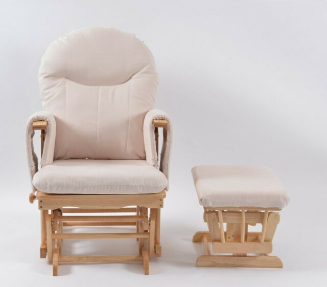 big sale 0141e 1673d Habebe Recliner Rocking Glider Chair & Stool WASHABLE COVERS