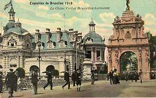 Postkaart - Brussel - Expo 1910 - Le Chien Vert en Brussel kermis