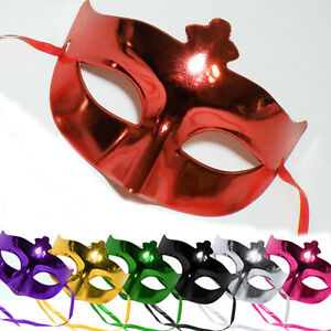 Einfache Halbmaske * SHINE * Farbwahl - Harlekin KARNEVAL Mardi Gras Maske