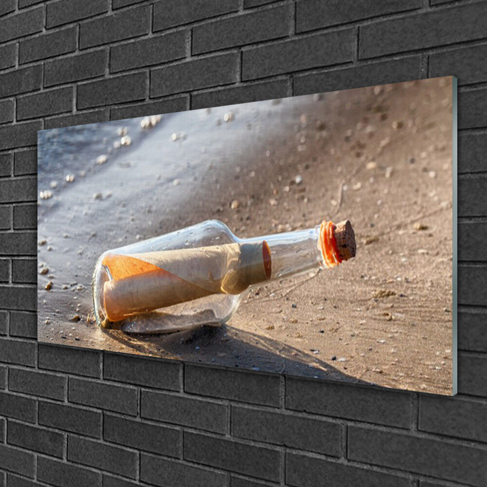 Image sur verre acrylique Tableau Impression 100x50 Message Dans Une Bouteille