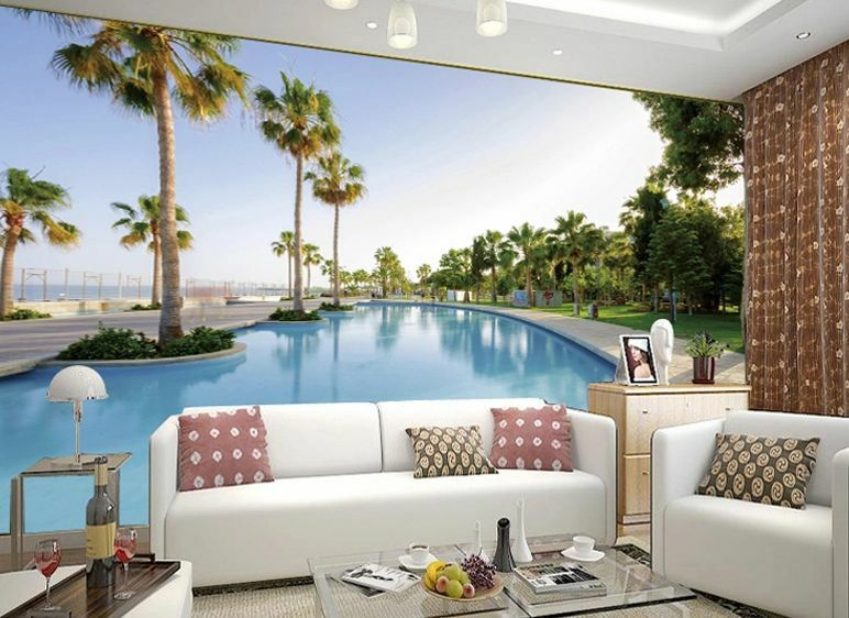3D Clear pool Coco 4312 Paper Wall Print Wall Decal Wall Deco Indoor Wall Murals
