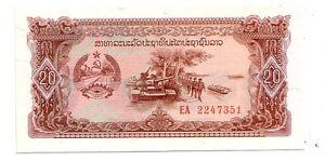 Laos-20-kip-1979-FDS-UNC-Pick-28-Lotto-3776