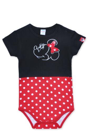 Disney Minnie Mouse Mini Maus Mädchen Baby Body Strampler Kurzarm 68-86