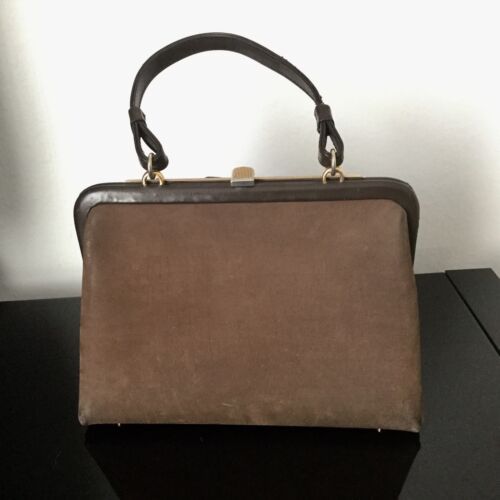 1950 Handbag Et Cuir Main Camel Rare Tres A Loewe Vintage Nubuck Sac zAqWI8