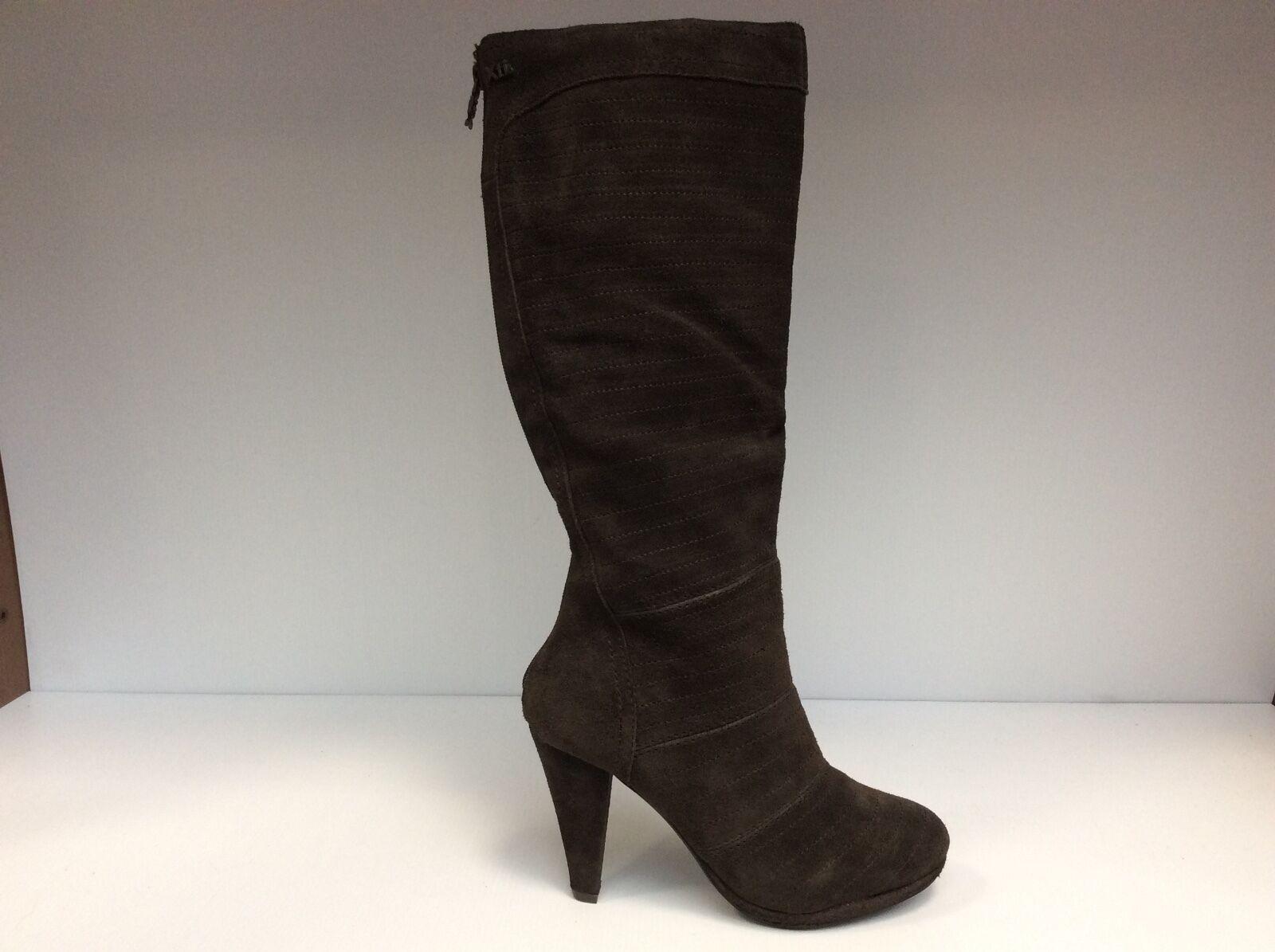 Xti 24720 chaussures Femme bottes Bottines Talon Moyen 9,5 cm Daim marron