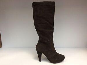 scarpe di separazione 54474 15814 Dettagli su XTI 24720 Scarpe Donna Stivali Stivaletti tacco Medio 9,5 cm  camoscio marrone
