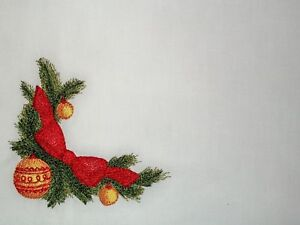 Christmas Greenery Images.Details About Christmas Greenery With A Bow Embroidered Quilt Label To Add Your Message