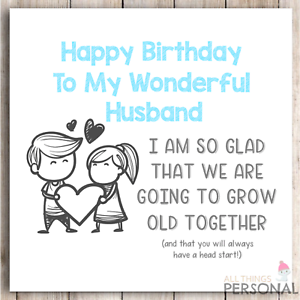 Funny Birthday Card For Husband From Wife Rude Birthday Card Humour Banter Joke Ebay