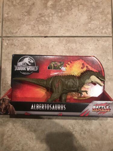 New Jurrassic World Battle Damage Albertosaurus Dino Rivals