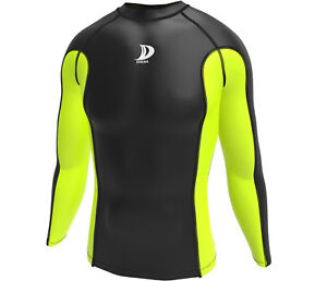 Clothes, Shoes & Accessories Activewear Tops Men Compression Armor Base Layer Top Long Sleeve Thermal Gym Sport Shirt Cycling