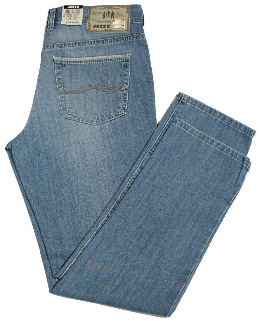 JOKER Jeans CLARK CLARK CLARK 2248-0723 Blau bleach used Buffies Herrenjeans leicht bis W42 2ae5a9