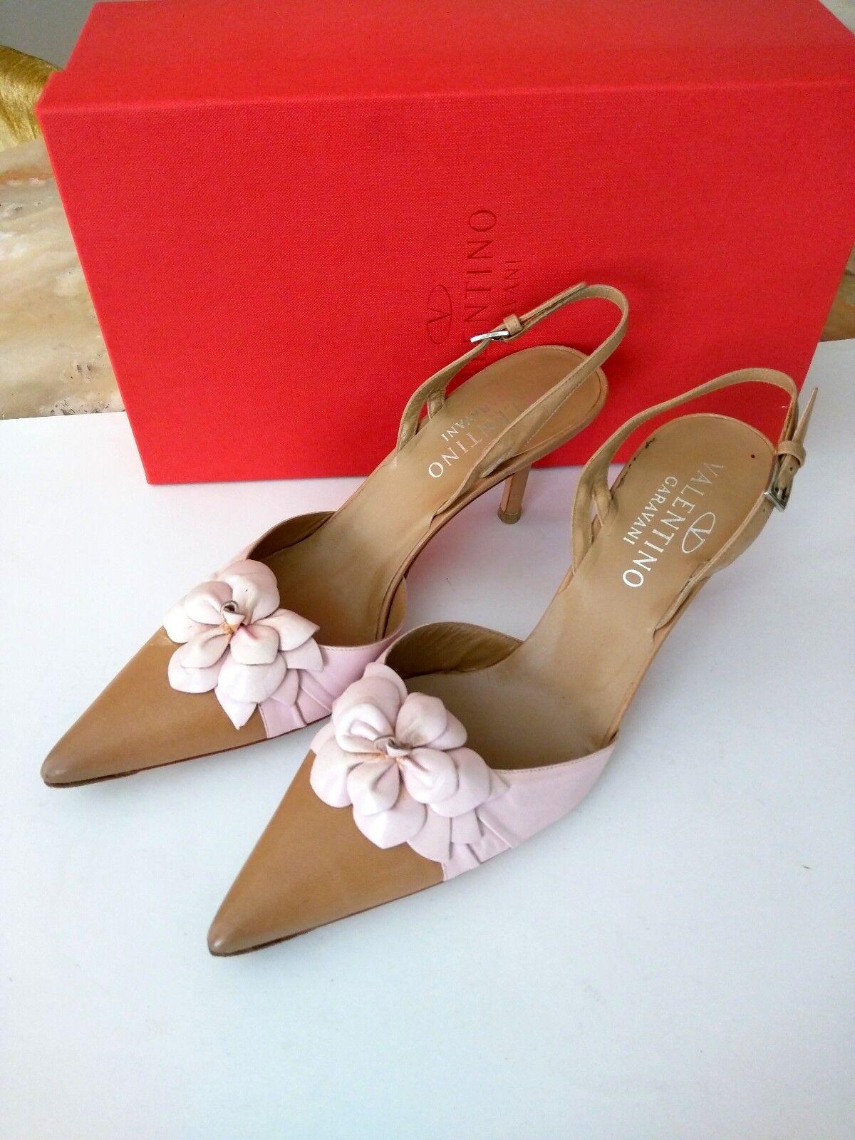 Valentino Garavani Flower High High High Hill Leather chaussures- Taille 39 d1dcea