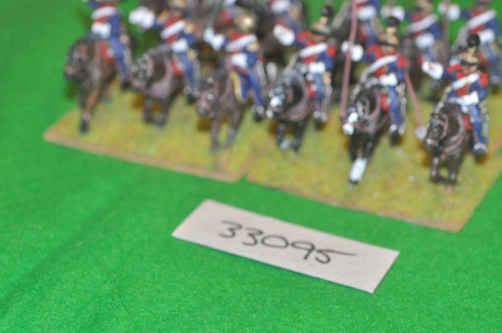 25mm napoleónicas francés-Leger Lancer Regimiento 12 figuras-CAV (33095)