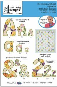 Amazing-Designs-Blooming-Applique-Alphabet-208-Artisan-Designs-ADL-83-Brand-New