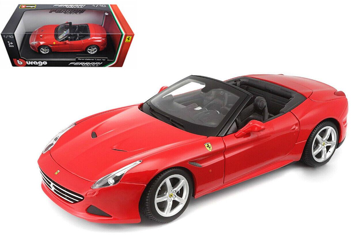 Escala 1 18 Ferrari California T Abierto Top Race & Jugar Rojo 3+ edades Diecast Burago