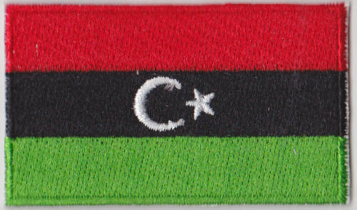 Small Libya Flag Iron On Patch 2.5 x 1.5 inch Free Shipping