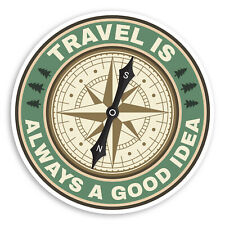 2 x 10cm Bon Voyage Vinyl Stickers Retro Plane Travel Sticker Luggage #17725