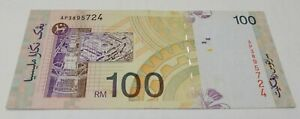 Malaysia RM100 10th series Ali Centre AP3895724 VF