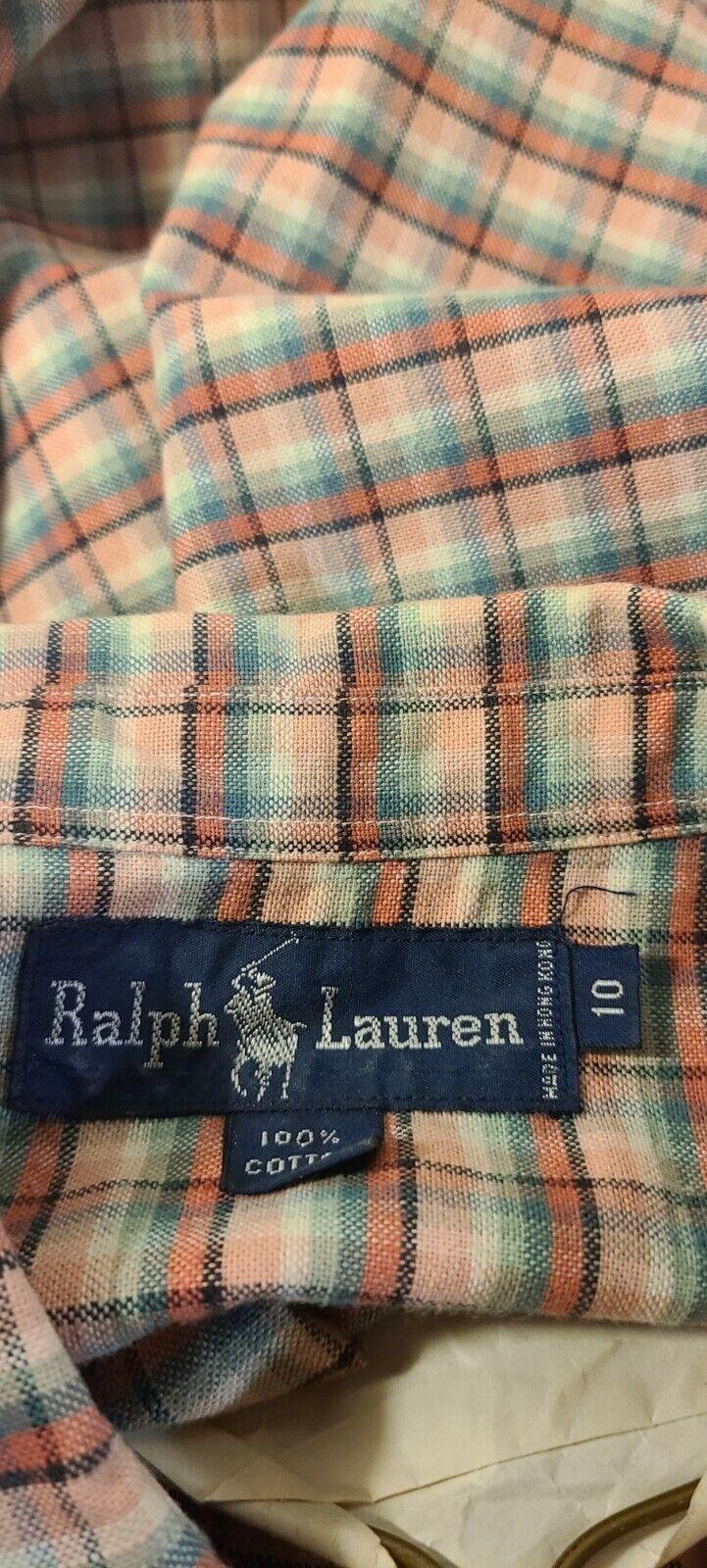 Vintage 1980s Ralph Lauren Plaid Button Down.  - image 4