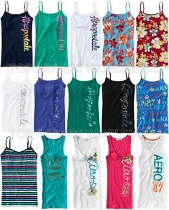 AEROPOSTALE-WOMENS-CAMI-TANK-TOP-GRAPHIC-SEQUIN-GLITTER-FLORAL-STRIPED-T-SHIRT