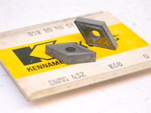 NEW-SURPLUS-5PCS-KENNAMETAL-DNMG-432-GRADE-K68-CARBIDE-INSERTS