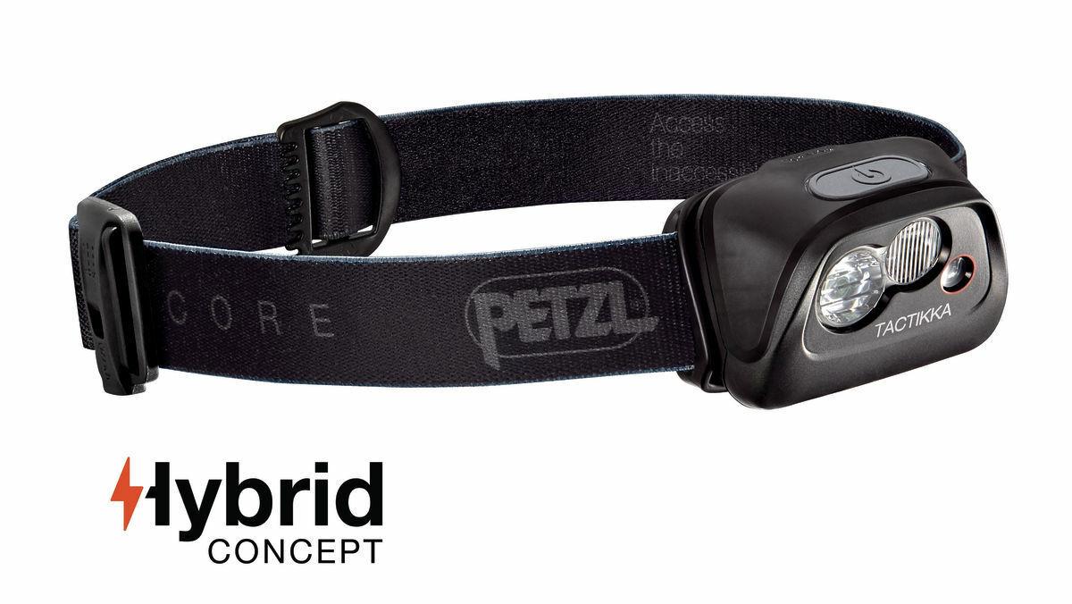 Petzl Kopflampe Tactikka Core E99ADA mit integriertem Core Akku wiederaufladbar