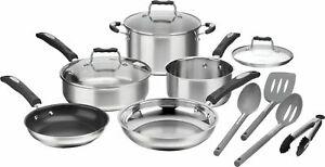 Cuisinart - 12-Piece Cookware Set - Stainless Steel