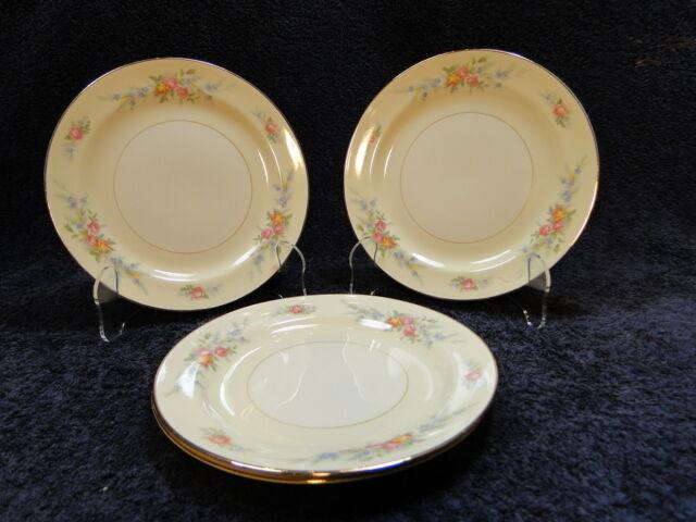 "Homer Laughlin Eggshell Nautilus Ferndale Dessert Pie Plate 7 1/8"" - FOUR  NICE!"