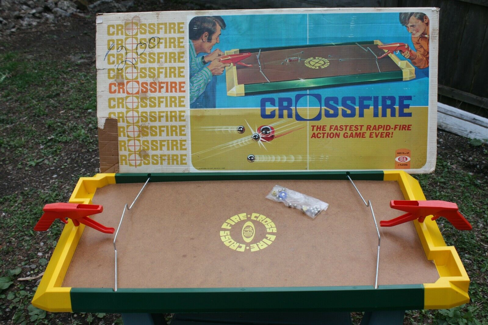 Vintage Crossfire Game 1971 Ideal Games Boxed and in Great Condition