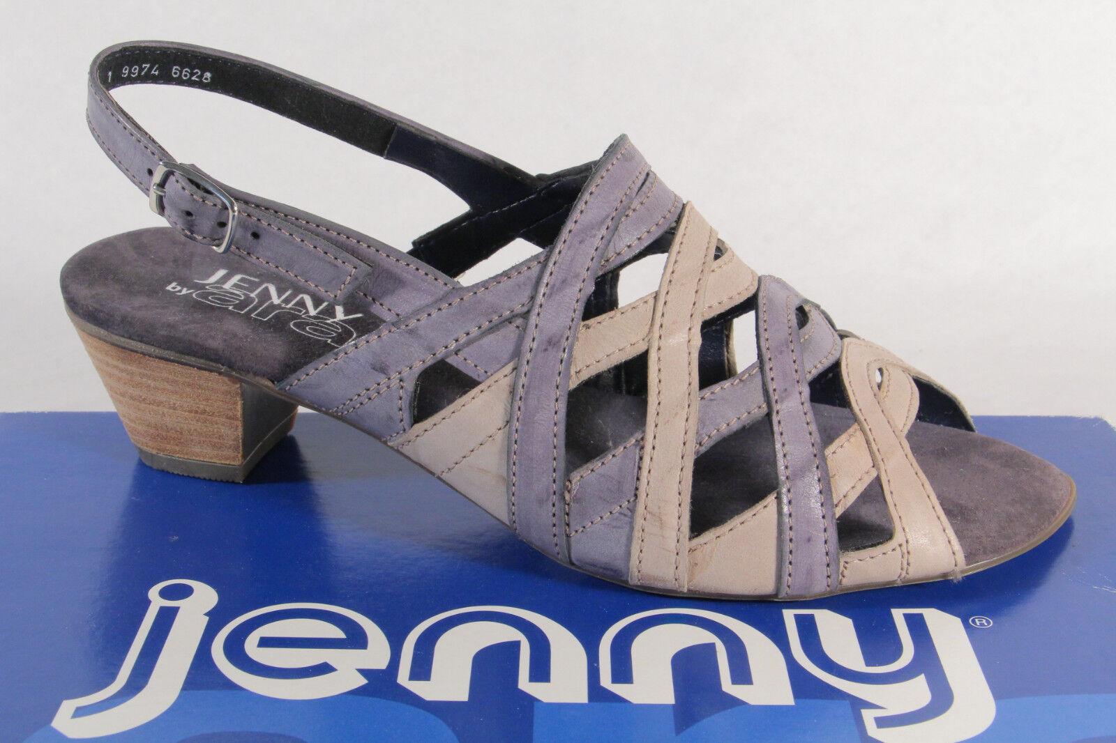 Jenny By Ara Sandalias Honda Cuero Cuero Cuero Auténtico gris Azul Nuevo  presentando toda la última moda de la calle
