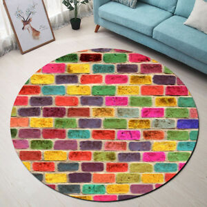 Brick Wall Home Area Rugs Round