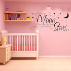 SHOOT FOR THE MOON STARS Words Quote Baby Room Nursery WALL Sticker Decal  Sales