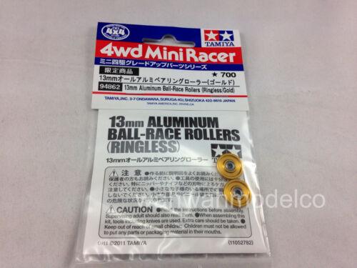 Ringless//Gold 13mm Tamiya 94862 Alum Ball Race Rollers