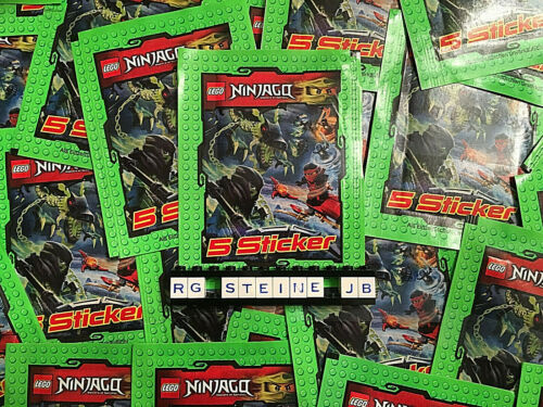 LEGO ® Ninjago ™ 25 stickers pochettes = 125 Stickers//images collages Sacs NEUF