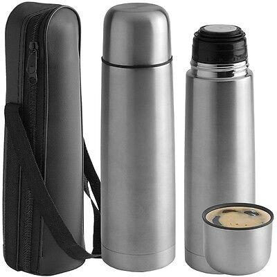 Radient Thermos (0,50 L) In Metallo Per Bevande The Bibite Acqua Con Custodia