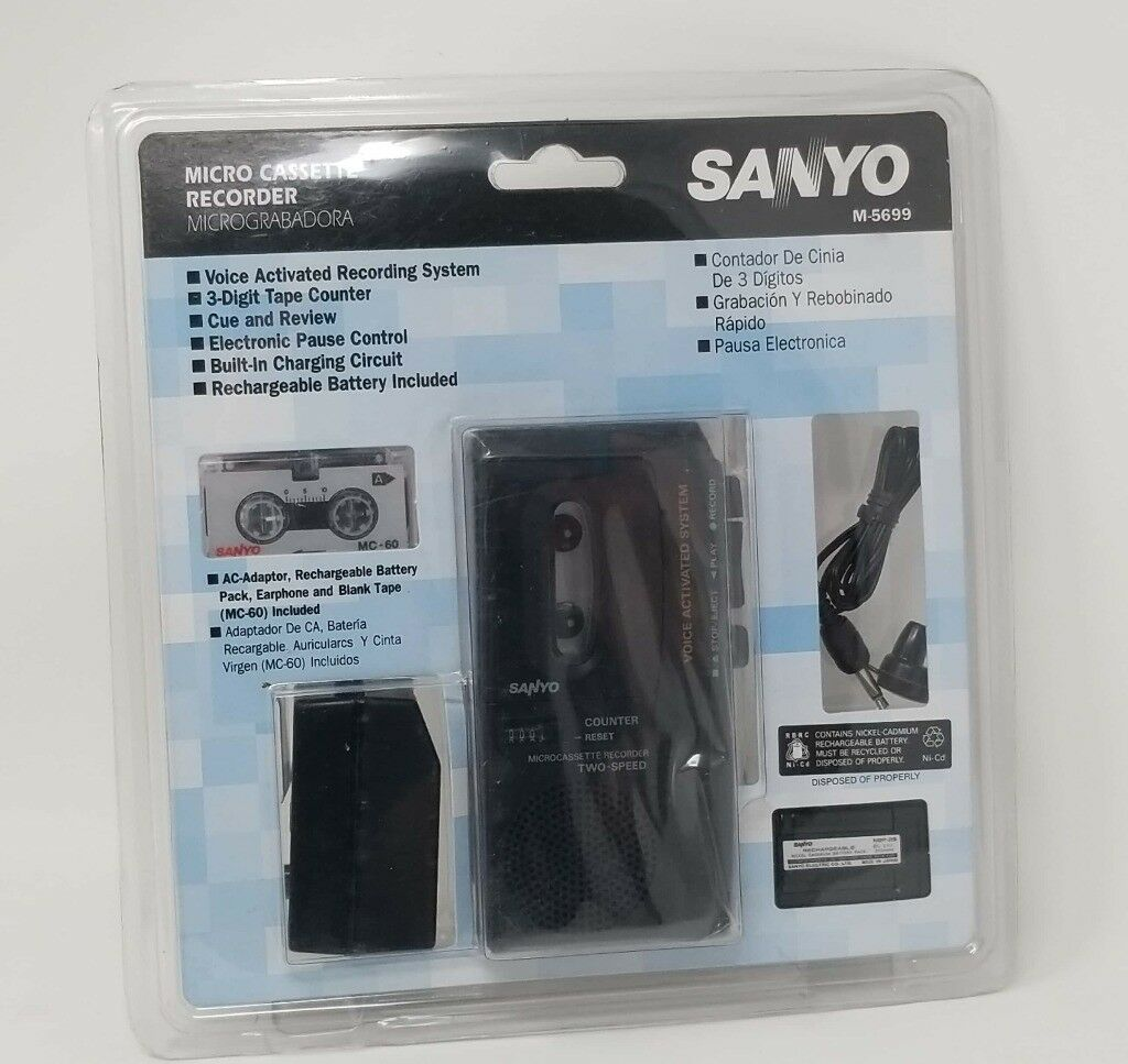 SANYO M-5699 Microcassette Voice Activated Recorder Tested 56279 | eBay
