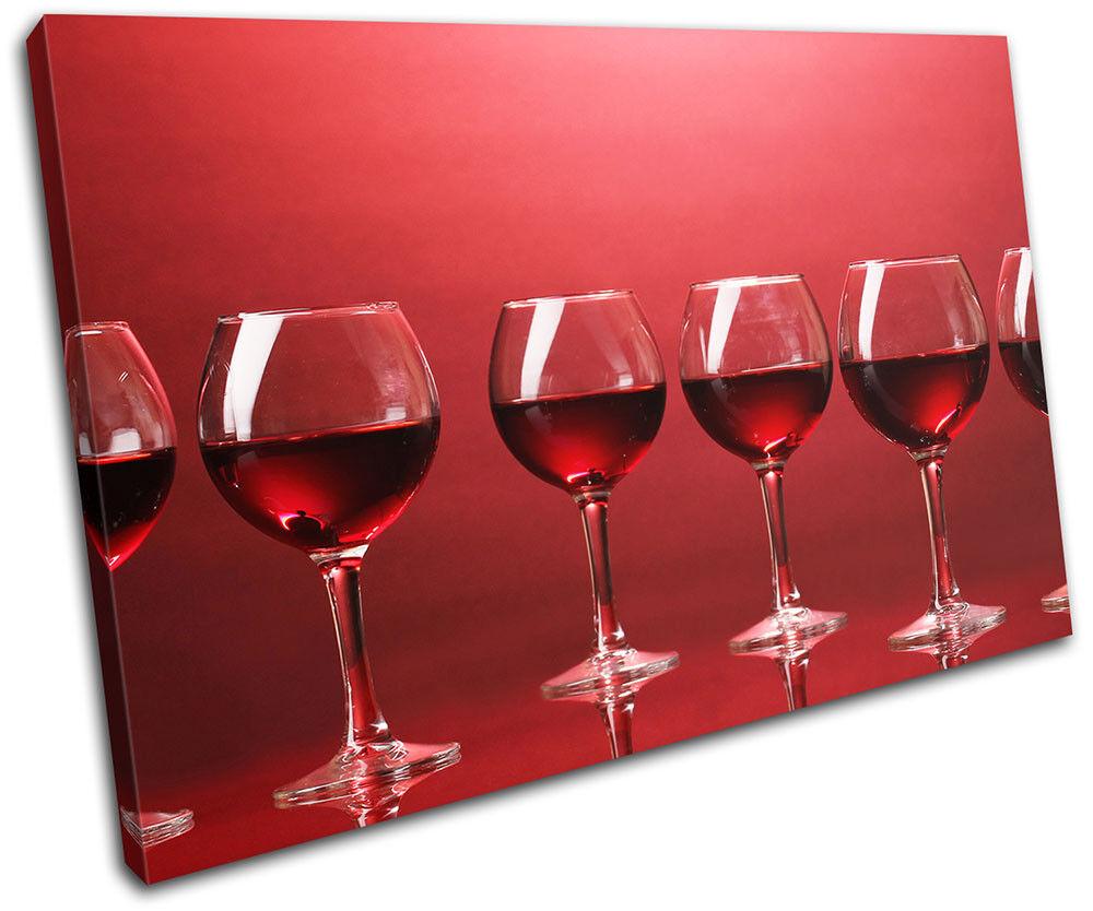 Wineglass rouge food kitchen single toile wall art photo print