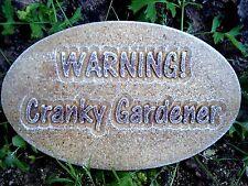 Plaster Concrete Warning Cranky Gardner plaque Mold mould