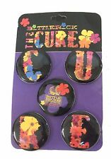 The Cure Bottle Rock 2014 5 Piece Pin Button Set New Official Robert Smith Shows