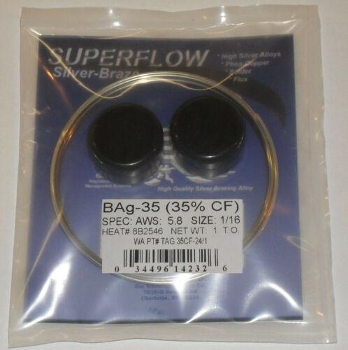 "35/% Silver Solder Brazing Wire 1 troy oz 1//16/"" Bag-35 Flux"